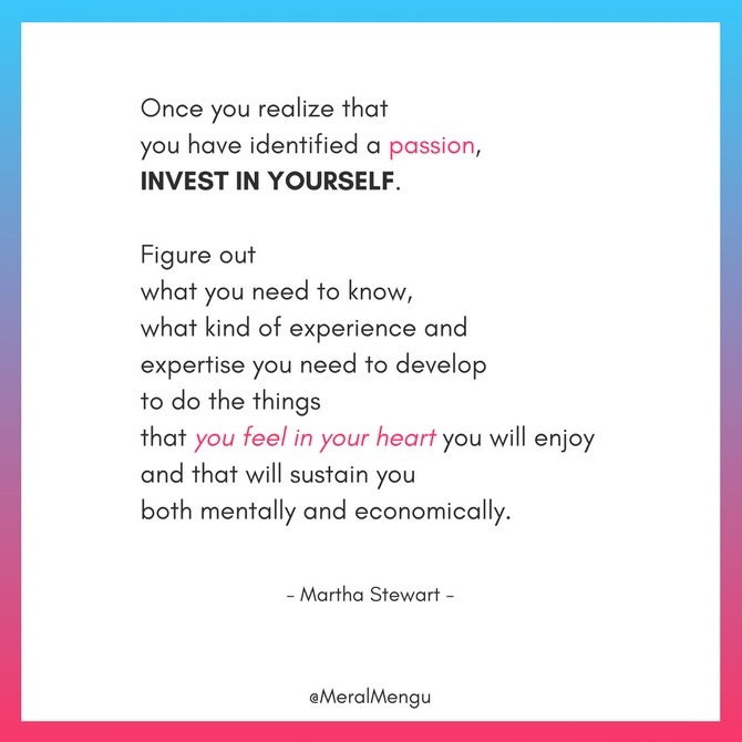 quote about investing yourself by Martha Stewart