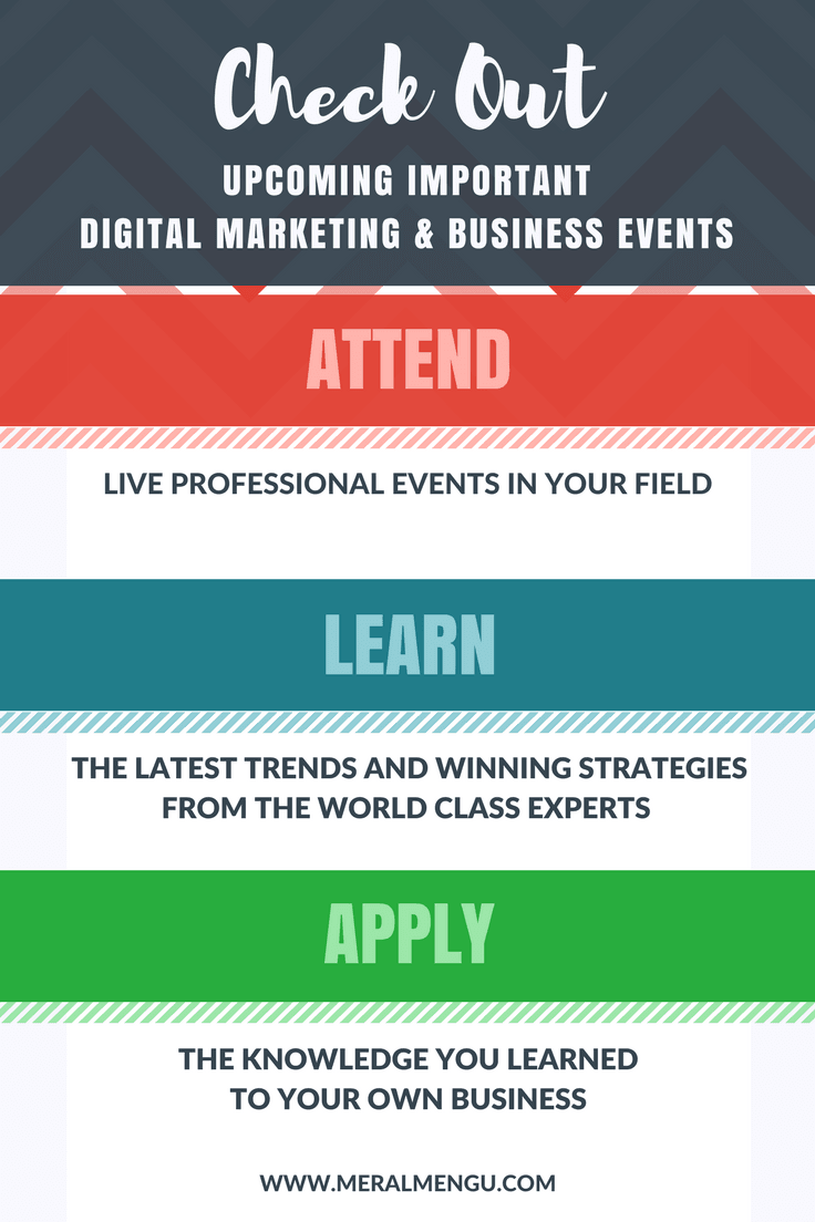 Invest in your professional growth by attending one of these live digital marketing or business conferences this year